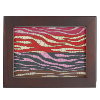 虹のシマウマの抽象芸術 ジュエリーボックス
