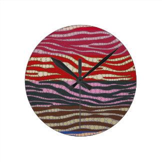 虹のシマウマの抽象芸術 ラウンド壁時計