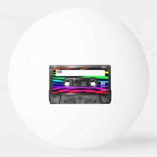 虹のシマウマストライプなカセットラベル 卓球ボール