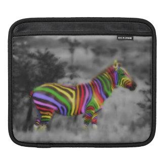 虹のシマウマ iPadスリーブ