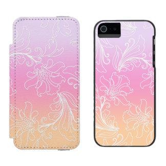 虹のシャーベットの背景のファンタジーの花柄 INCIPIO WATSON™ iPhone 5 財布 ケース