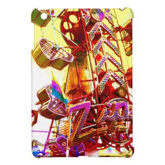 虹のジッパーのカーニバルの乗車の抽象芸術の写真のIpadの場合 iPad Miniケース