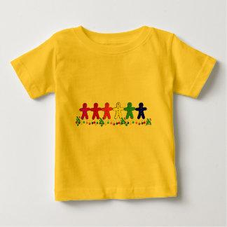 虹のジンジャーブレッド ベビーTシャツ