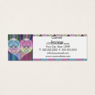 虹のスカルのカップルの砂糖のスカル スキニー名刺