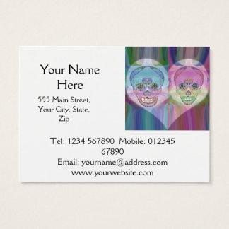虹のスカルのカップルの砂糖のスカル 名刺