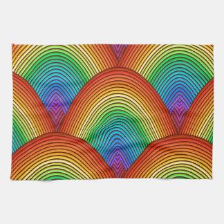 虹のスケール キッチンタオル