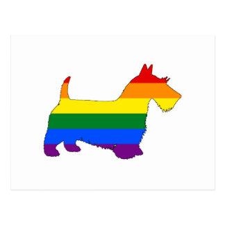 虹のスコットランド人テリア ポストカード