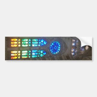 虹のステンドグラスWindows バンパーステッカー