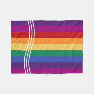 虹のストライプおよび抽象的なパターン フリースブランケット