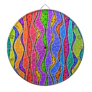 虹のストライプな投げ矢板 ダーツボード