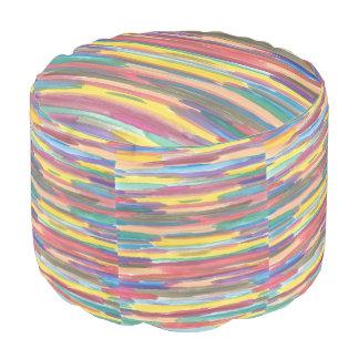 虹のストライプのなPouf プーフ