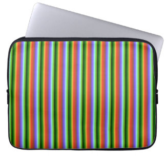 虹のストライプ。 おもしろいの多色刷りパターン ラップトップスリーブ
