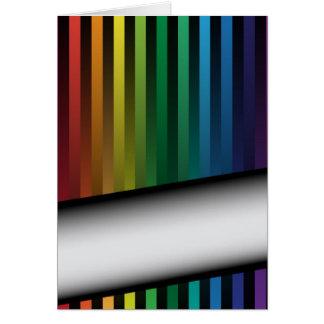 虹のストリップ カード