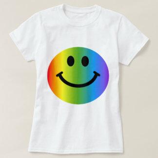 虹のスマイリー Tシャツ
