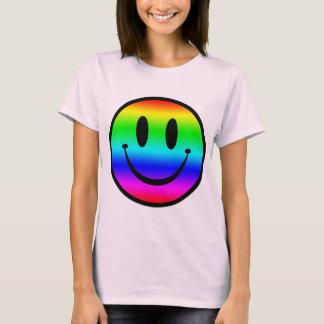 虹のスマイリーV1 Tシャツ