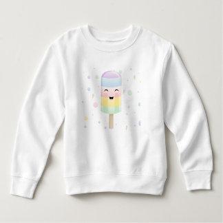 虹のスマイルのアイスキャンデー スウェットシャツ