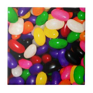 虹のゼリー菓子-キャンデーのプリント タイル