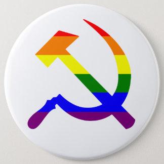 虹のソビエトソ連国旗 缶バッジ
