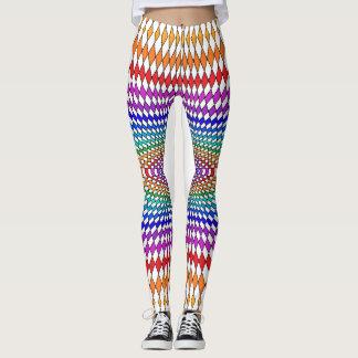 虹のタイツのファッションのポップアートの幾何学的な色 レギンス