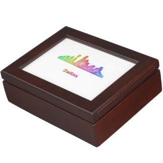 虹のダラスのスカイライン ジュエリーボックス