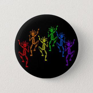 虹のダンサー 5.7CM 丸型バッジ