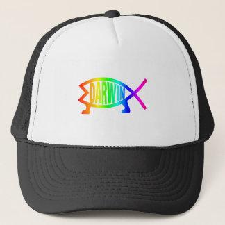 虹のダーウィンの魚 キャップ