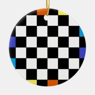 虹のチェッカーボードCricketDiane セラミックオーナメント