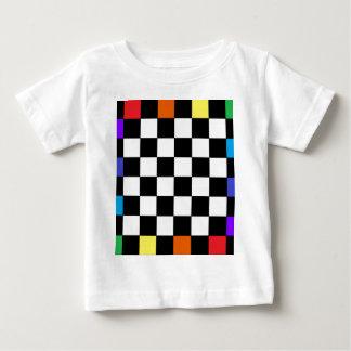 虹のチェッカーボードCricketDiane ベビーTシャツ
