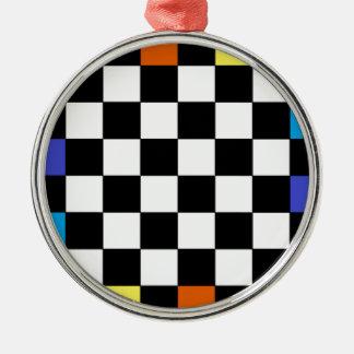 虹のチェッカーボードCricketDiane メタルオーナメント