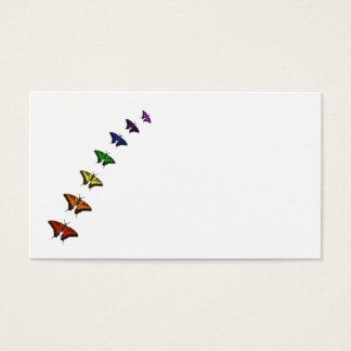 虹のチャクラの蝶 名刺