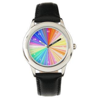 虹のチャクラの輝き 腕時計