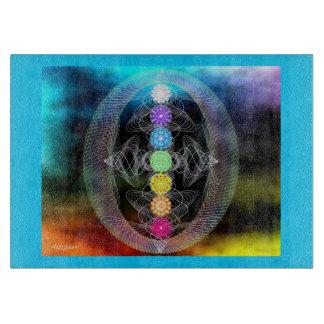 虹のチャクラ カッティングボード