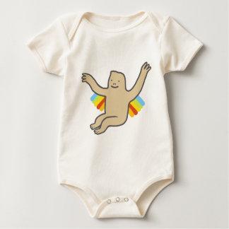 虹のチンパンジー ベビーボディスーツ