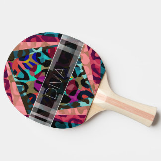 虹のチータの花型女性歌手 卓球ラケット