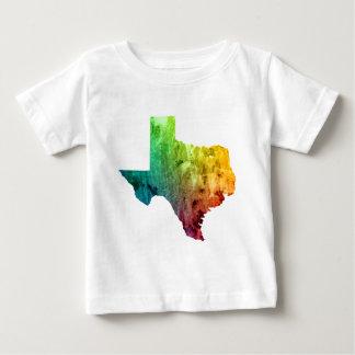 虹のテキサス州のプライドのベビーのワイシャツ ベビーTシャツ