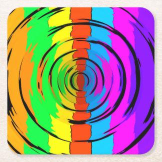 虹のテストパターン スクエアペーパーコースター