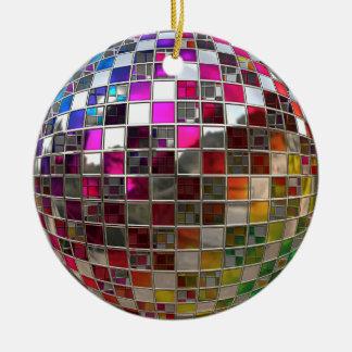 虹のディスコの球の鏡のオーナメント セラミックオーナメント