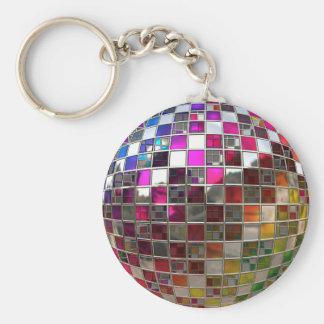 虹のディスコの球の鏡 キーホルダー