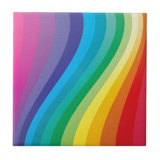 虹のデザイン タイル