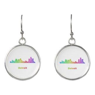 虹のデトロイトスカイライン イヤリング