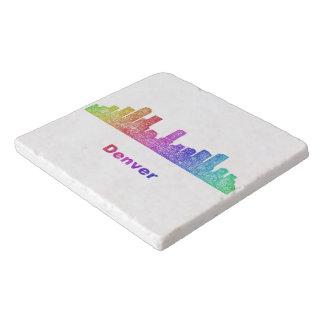 虹のデンバーのスカイライン トリベット