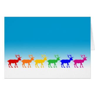 虹のトナカイ カード