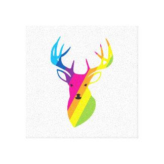 虹のトナカイ キャンバスプリント