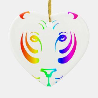 虹のトラ セラミックオーナメント