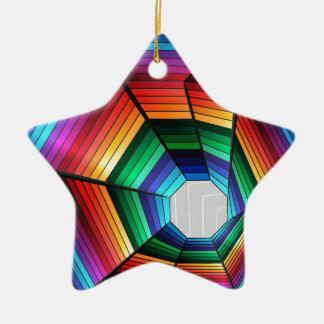 虹のトンネルの抽象デザイン セラミックオーナメント