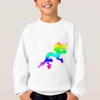 虹のドラゴン スウェットシャツ