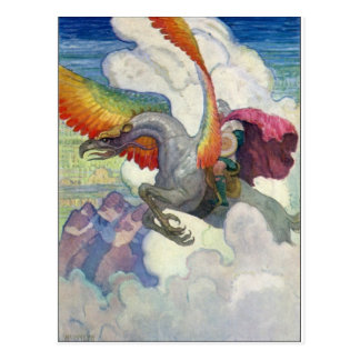 虹のドラゴン ポストカード