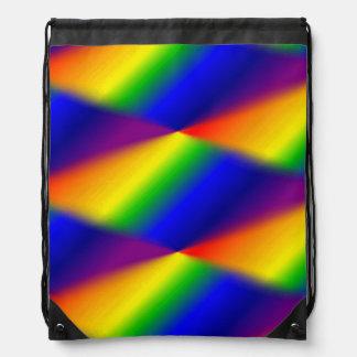 虹のドローストリングのバックパック ナップサック