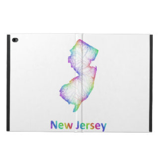 虹のニュージャージーの地図 POWIS iPad AIR 2 ケース