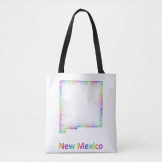 虹のニューメキシコの地図 トートバッグ